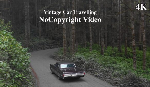 4K Vintage Car Travelling No Copyright Video | Free To Use | Vintage Car Ultra HD Drone Footage